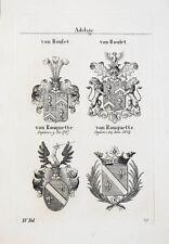 1837 4 Wappen von Roulet Rouquette Kupferstich Tyroff