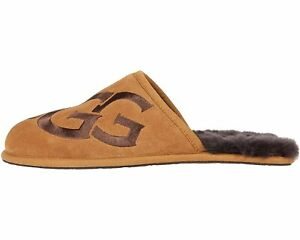 UGG Men's SCUFF LOGO Casual Comfort Suede Slip On Slippers CHESTNUT 1101324