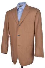 ISAIA Beige Brown SILK COTTON Mens Blazer Sport Coat Jacket - EU 52 / US 42 R