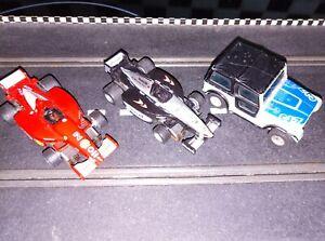 Tyco AFX Aurora Ferrari,McLaren & Jeep CJ-7 slot racing cars - spares,repairs...