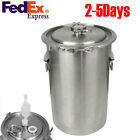 5 Gallon Brewing Kettle,Stainless Steel Beer Wine Pot Safe Use USA SHIP Fast