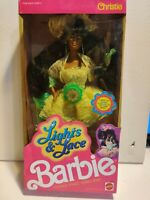 MATTEL Black African American Barbie Lights & Lace Christie Doll 9728 1990 NRFB