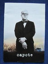 CAPOTE Original Program PHILIP SEYMOUR HOFFMAN OSCAR-WINNING Film