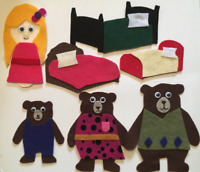 Goldilocks & The Three Bears Felt Story - Childrens Felt/Flannel Board Story