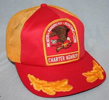 Vtg 80s North American Hunting Club Charter Member Patch Snapback Trucker Hat