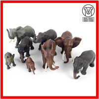 Elephants Lot of 8 Animals Mixed Toy Elephant Bundle by Schleich & Papo A2