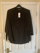 Dorothy Perkins Curve Black Blouse Size 18 bnwt Rrp £26