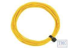 DCW-32YL DCC Concepts N/TT/HO/OO/O/G Scale Yellow Stranded Decoder Wire (6m)