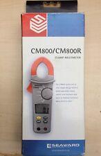 SEAWARD CM800/CM800R 600A Multímetro Abrazadera con tarjeta de instrucciones