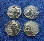 SET OF ALL 4 PADDINGTON BEAR 50P COINS IN CAPSULES AND GIFT BAG