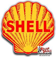 """(shell #3) 12"""" SHELL gasoline pump LUBSTER DECAL GAS OIL STICKER"""