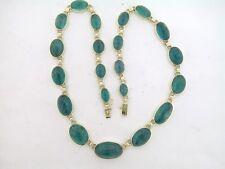 Turmalin Collier 585 Gelbgold 14Kt Gold 21 natürliche blau-grüne Turmaline