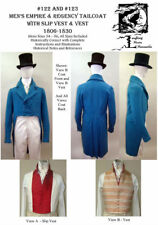 Men's Empire Regency Tailcoat Dress Coat Vest 1806-1830 Sewing Pattern Lmm122123