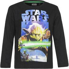 NUEVO Camisa Niños Star Wars Suéter Jersey gris turquesa 104 116 128 140 #117