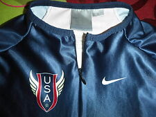 USATF NIKE Olympic Track Top LARGE Women's PRO KIT ELITE running  shirt USA