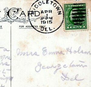 1915 Middletown Delaware Postmark to Georgetown Emma Holson Postcard LP