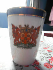 Vintage City Of Carlisle - Be Just & Fear Not - Dragons/Griffins Crested Beaker