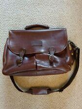 Vintage Leather Barbour Professional Satchel Bag W/ Detachable Strap 30 x 40cm