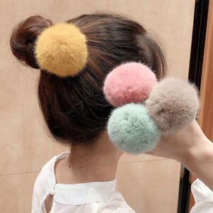 Hair Tie Band Furry Rope Ring Elastic Fluffy Ponytail holder girls birthday gift