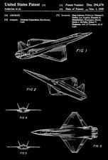 1988 - Northrop Stealth Aircraft - H. Asdurian - Patent Art Poster