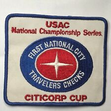 More details for vintage usac national championship motor racing patch citicorp cup usa racing