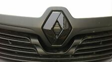 RENAULT TRAFIC 3 2014+ GLOSS BLACK FRONT & REAR BADGE COVER SET