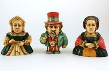 3 Harmony Kingdom Pot Bellys - Catherine of Aragon, Anne Boleyn, & Uncle Sam