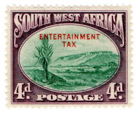 (I.B-BOB) South-West Africa Revenue : Entertainment Tax 4d