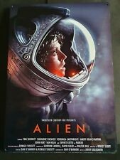 Alien movie poster a4 aluminium sign - Xenomorph, Sigourney Weaver