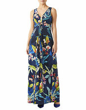 BNWT MONSOON Camille Navy Blue Jersey Summer Day to Evening Maxi Dress Size 12