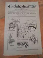 Rare Vintage Magazine THE SCHOOLMISTRESS Thursday 12th March 1931+Advertising