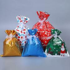 30pc Christmas Foil Gift Wrapping Bags 5 Design Xmas Party Goody Favour