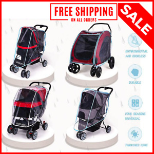 Waterproof Rain Cover For Folding Travel Outdoor Dog Cart Carrier Pet Stroller