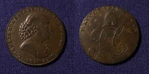 GREAT BRITAIN 1790s CONDER TOKEN CHESHIRE CHARLES ROE BEEHIVE D&H 62