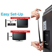 HOT Clear TV Key HDTV FREE TV Digital Indoor Antenna 1080p Ditch Cable As Seen
