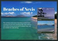 Nevis Beaches Stamps 2017 MNH Landscapes Tourism Trees Nature Marine 2v S/S