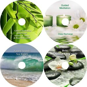 Relief Of Anxiety & Stress Healing Meditations & Relaxation Collection On 4 CD's