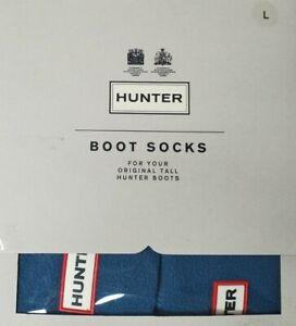New Hunter Original Tall Welly Boot Socks Fleece Dusty Petrol Size Large