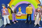 MUSIC & BEATLES LOVERS, YELLOW SUBMARINE, GORGEOUS LARGE SET W/STAND & CASE