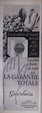 PUBLICITÉ 1957 GUERLAIN LA GARANTIE TOTALE - ADVERTISING