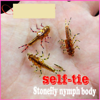 Nymph Flies Artificial Stonefly Rubber Body Fly Fishing Wet Tied Model With Legs