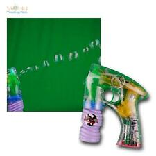 Electric Bubble Gun with Led Light Soap Bubble Gun Refillable