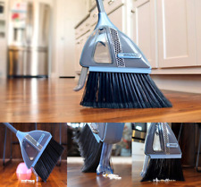 VaBroom 2-in-1 Sweeper with Built-in Vacuum, Combination Cordless Vac Broom New
