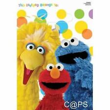 Sesame Street Party Loot Bags...Lolly Bags...Elmo...Oscar...Big Bird...8 Pack