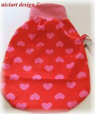 Niciart ♥ nuevo pucksack ♥ bebé saco de dormir ♥ corazones Pink rojo ♥ algodón & Molton ♥