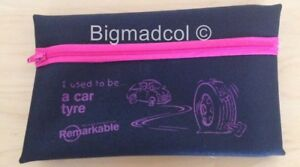 Remarkable recycled Pencil Case I used to be a car tyre Eco Friendly NEW - PINK