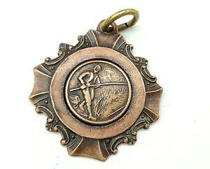 Vintage Fishing sport award medal 1966. Signed.