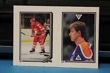 1987-88 O Pee Chee Sticker Wayne Gretzky #181 & Neil Sheehy #38