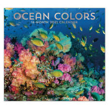 Ocean Colors 2021 16-month Full-size Wall Calendar