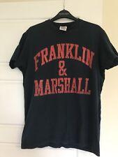 Franklin Marshall T Shirt M bleu marine